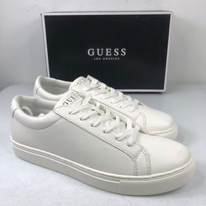 Guess Batrix White Lace Up Sneaker Shoes